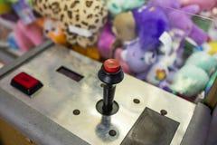 Steuerknüppel auf Säulengangmaschine Stockfotografie