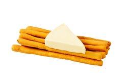 Steuerknüppel und Käse Lizenzfreie Stockbilder