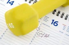 Steuerknüppel zum Trainingszeitplan Lizenzfreies Stockbild