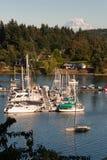 Steuermann Harbor Mt Rainier Vashon Island Puget Sound Lizenzfreie Stockfotografie