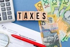 Steuern - Australien Stockbilder