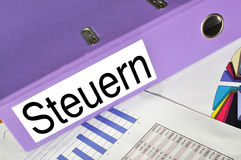 STEUERN folder. On a market report Royalty Free Stock Image