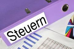 STEUERN-Ordner lizenzfreies stockbild