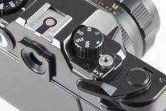 Steuern Sie die Belichtungszeit SLR-Kamera Stockbilder