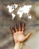 Steuern Sie die Welt Lizenzfreies Stockfoto