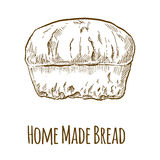 Steuern Sie gebildetes Brot automatisch an stock abbildung
