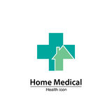 Steuern Sie medizinisches Symbol automatisch an Pflegeheim Lizenzfreie Stockfotografie