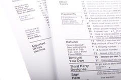 Steuern und Formulare stockfotos