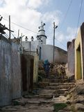Steuernde Steinschritte in Harar Jugol, Äthiopien stockfotografie