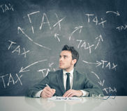Steuerproblem Stockfotos