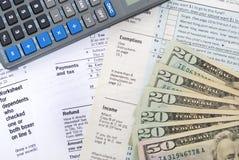 Steuerrückerstattung Stockbild