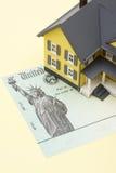 Steuerrückerstattungs-Scheck Stockfotografie