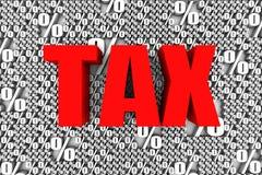 Steuersätze Stockfoto
