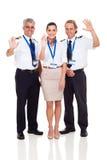 Steuert das Stewardesswellenartig bewegen Lizenzfreies Stockfoto