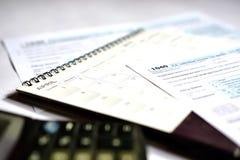 Steuertag für 2017 Rückkehr Stockfotos