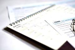 Steuertag für 2017 Rückkehr Lizenzfreie Stockfotos