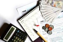 Steuertag für 2017 Rückkehr Lizenzfreies Stockbild