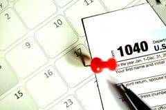 Steuertag für 2017 Rückkehr Stockbild