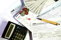 Steuertag für 2017 Rückkehr Lizenzfreie Stockfotografie
