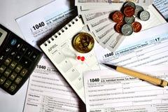Steuertag für 2017 Rückkehr Lizenzfreies Stockfoto