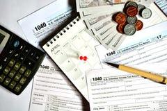 Steuertag für 2017 Rückkehr Stockfoto