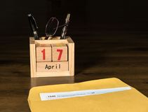 Steuertag für 2017 Rückkehr ist am 17. April 2018 Lizenzfreie Stockbilder