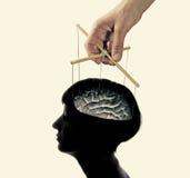 Steuerung über dem Gehirn lizenzfreies stockbild