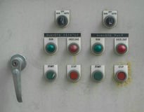 Steuerung der Wasserpumpe Stockfoto