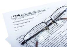 Steuervorbereitung Stockbild