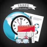Steuerzahlung Stockfoto