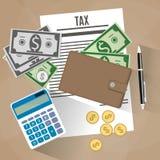 Steuerzahlungsdesign Lizenzfreie Stockfotografie