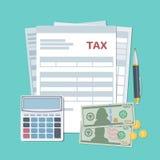 Steuerzahlungskonzept Einzelstaatliche Steuern, Berechnung Beschneidungspfad eingeschlossen Stockfotografie