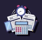 Steuerzahlungskonzept vektor abbildung