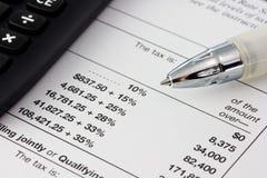 Steuerzeit Lizenzfreies Stockfoto