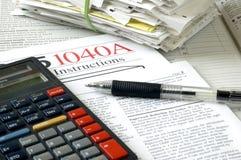 Steuerzeit Stockfoto