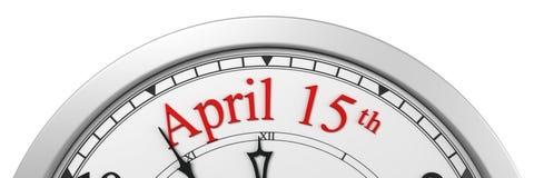 Steuerzeitfrist auf einer Uhr Stockfoto
