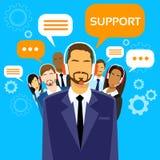 Steun de Bedrijfsmensen groeperen Technisch Team On vector illustratie