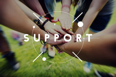 Steun die het Concept van de Hulpdienst helpen stock afbeeldingen