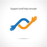 Steun en hulpconcept, het concept van groepswerkhanden Stock Fotografie