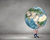 Steun onze planeet stock afbeelding