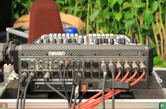 Steun van de reeks van DJ, Audio en video input-output Lijn stock afbeelding