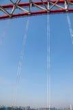 Steun van gebogen staalbalk van Chongqing Chaotianmen Yangtze River Bridge royalty-vrije stock afbeelding