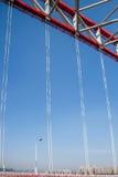 Steun van gebogen staalbalk van Chongqing Chaotianmen Yangtze River Bridge royalty-vrije stock foto