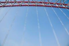 Steun van gebogen staalbalk van Chongqing Chaotianmen Yangtze River Bridge royalty-vrije stock foto's