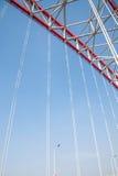 Steun van gebogen staalbalk van Chongqing Chaotianmen Yangtze River Bridge royalty-vrije stock afbeeldingen