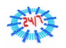 Steun zeven dagen per week 24 uren. stock illustratie