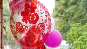 Steunen & toebehoren voor een Chinees huwelijk stock footage