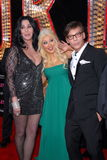 Steve Antin, Cher, Christina Aguilera Stock Images