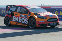Steve Arpin 00, commandes une voiture de St de Ford Fista, pendant Red Bull Images stock