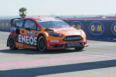 Steve Arpin 00, commandes une voiture de St de Ford Fista, pendant Red Bull Image stock